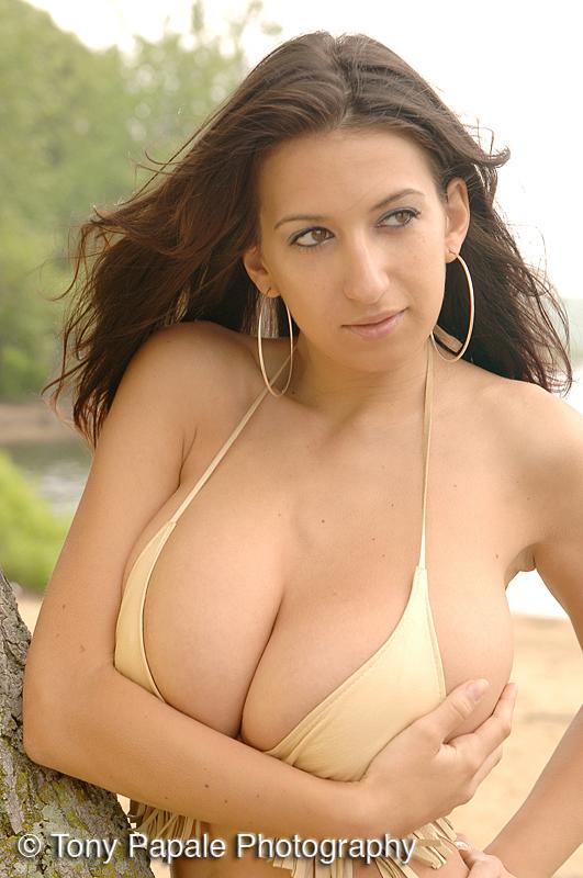Brunette European solo girl Jana Defi flaunting massive MILF hooters  1775583